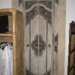 La jolie porte de la salle d'eau