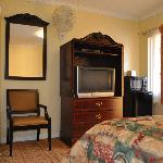 Guest room with modern amenities