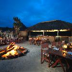 Enjoy local and traditional cuisine under the African sky..