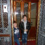 vieil ascenseur de l hotel