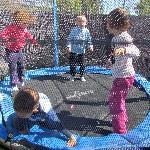 Garden trampoline May 2011