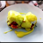 smoked salmon eggs benedict. yum.