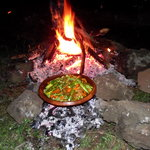 Lamb Tajine on Campfire above Azrou