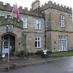 Dunkenhalgh Hall as you arrive