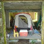 """Here's the """"covered"""" tent site mentioned on the site. """"Looks like the holocaust"""" was my wife's r"""