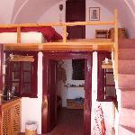 Apt interior from the mezzanine floor