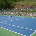 Newly resurfaced tennis courts
