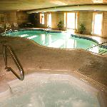 Heated indoor/outdoor pool with swim through