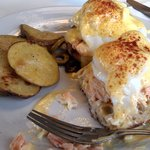 salmon eggs benedict-yum!