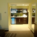Kitchenette area - well lit, very very nice