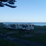 Our beachside campsite