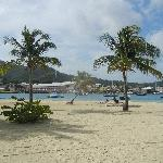 Beach on hotel island