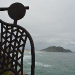 Vista da praia do Santinho