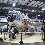 The B29 dwarfs the room