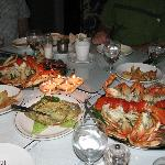 Lobster and Crab served chilled, and fabulous crab dip