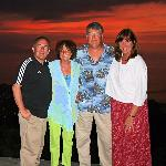 4 of us at Las Carmelitas at sunset