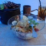 Rujak Pengantin Salad, Ice Tea & Sate Ayam Madura