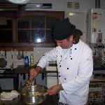Como soy chef Federico me permitió cocinar con el