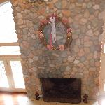 Fireplace in The Carriage House
