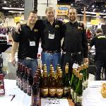 Dana, with his sons, Bjorn and Leif, at a wine tasting event in Seattle