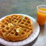 Breakfast--- Waffles & Orange Juice
