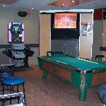 Giant screen & pool table