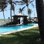 Vista da piscina e área social