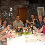 L-R John/Julie, Cora/Ricardo/Nacho, Pat/Yvonne - Dinner