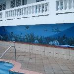 mural at the pool