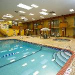 Large Indoor heated pool, spa and kiddie pool