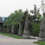 row of statues