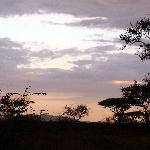 Sonnenuntegang vor der Lodge