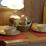 In-room continental breakfast~ in a basket