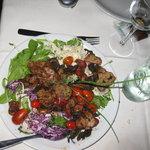 warm sweetbrad and mushroom salad
