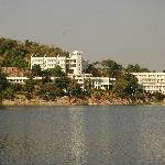 View of the resort from the boat
