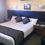 Top floor room and king bed