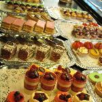 Tempting pastry display