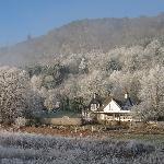 Enjoy breakfast by an open log fire on the frosty winter mornings