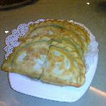 Pastry stuffed with egg and spinach---delicious!