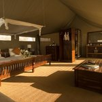 The meru tents are spacious at 8×5 metres (24×15 feet) and offer a bedroom and living area with