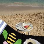 grab your breakfast and eat on the beach