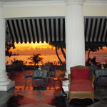 lobby/beach bar at sunset