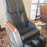 Relax in our massage chair.