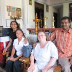 Us with our wonderful hosts - Subhash and Uma