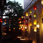 Lanterns outside our room