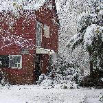 Carriage House as snow fell
