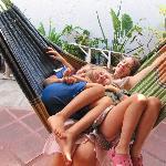 Happy in hammock