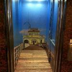elevator (pretty cool)....