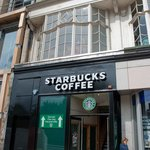 Starbucks entrance on Princes Street