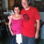 Mama Sara with Erik.